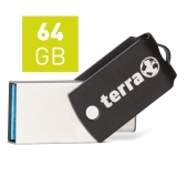 TERRA USThree A+C USB3.1  64GB 200/60 black (2190002)